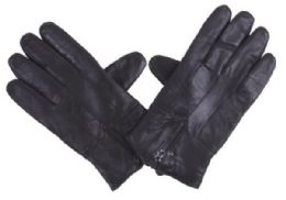 72 of Men's Black Leather Glove