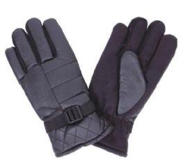 96 of Men Thermal Lining Ski Gloves Black Only