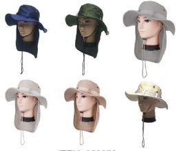 24 of Men's Fishing Hat With Neck Cover