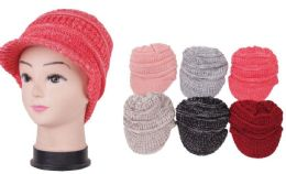 72 of Women's Knit Winter Hat With Visor