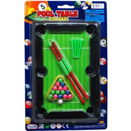 48 of Pool Table Play Set On Blister Card