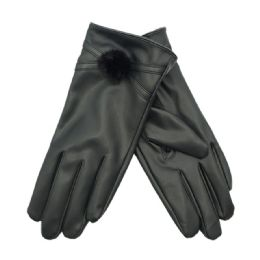 36 of Women's Faux Leather Glove