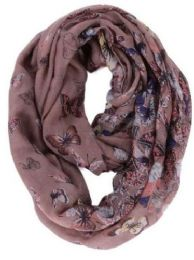 72 of Women's Butterfly Print Light Weight Infinity Scarf