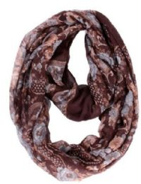 72 of Women's Calico Print Light Weight Infinity Scarf