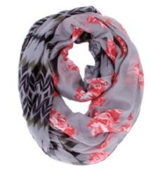 72 of Women's Floral Print Light Weight Infinity Scarf