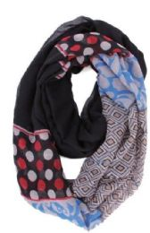 72 of Women's Geometric Print Light Weight Infinity Scarf