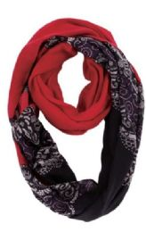 72 of Women's Paisley Print Light Weight Infinity Scarf