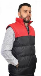 12 of Men's Nylon Synthetic Down Vest With Fleece Lining