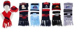 72 of Kids 3 Piece Winter Set , Hat Glove Scarf Ages 5-10