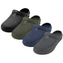 "36 of Men's ""real"" Soft Comfortable Hollow Shoes ( *asst. Black, Navy, Gray & Olive )"