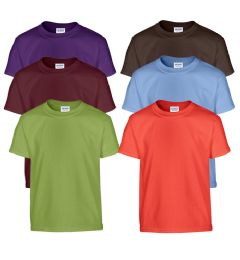 72 of Mill Graded Gildan Irregular Youth 5.3 Oz. Short Sleeves Tees In Assorted Colors
