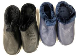 36 of Men's Winter Clogs With Fleece Warm Lining - Assorted Colors