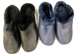 36 of Men's Winter Clogs With Plush Fur Warm Lining - Assorted Colors