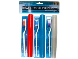 36 of 6 Piece Travel Toothbrush Set With Cases