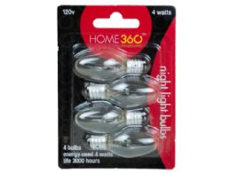 72 of 4 Pack Night Light 4 Watt Clear Bulbs
