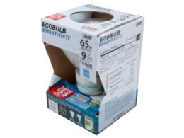 72 of Ecobulb Bright White 65 Watt Equivalent Cfl Light Bulb