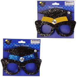 48 of Grad Glasses Glittered Cap