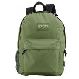 """24 of 18"""" Classic Olive Backpacks With Side Mesh Water Bottle Pocket"""