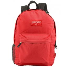 """24 of 18"""" Classic Red Backpacks With Side Mesh Water Bottle Pocket"""