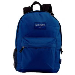 """24 of 18"""" Classic Navy Backpacks With Side Mesh Water Bottle Pocket"""