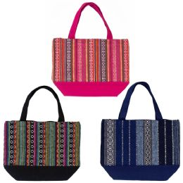 24 of Insulated Lunch Bags In 3 Assorted Jute Prints