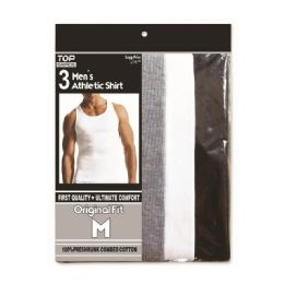 48 of Men's Athletic A-Shirts Assorted Colors