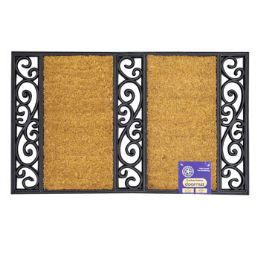 6 of Mat Outdoor Two Step Coco With Black Rubber Trim