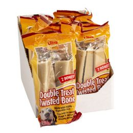 12 of Dog Treats 2 Pack Double Twisted Ultra Chewy