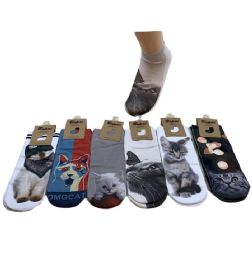 36 of Women's Cats Thin Casual No Show Socks