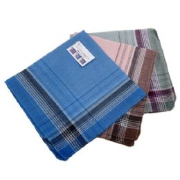 48 of 3 Pack Men's Plaid Handkerchiefs