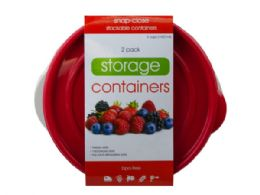 18 of 2 Pack Plastic Round Food Container