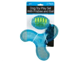 9 of 2 Pack Dog Toy Play Set With Frisbee And Ball