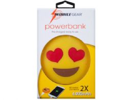 12 of 4000 Mah Heart Eyes Emoticon Powerbank With Charging Cable