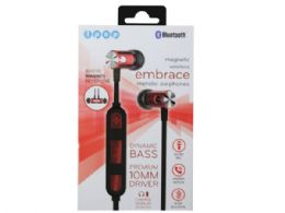 6 of Ipop Embrace Red Bluetooth Earphones With Case