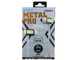 6 of Ipop Metal Pro Gold Bluetooth Earphones With Case