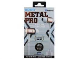 6 of Ipop Metal Pro Rose Gold Bluetooth Earphones With Case