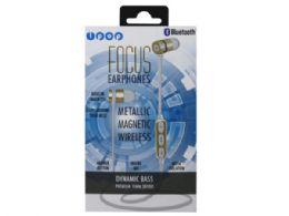 6 of Ipop Focus Gold Bluetooth Earphones With Case