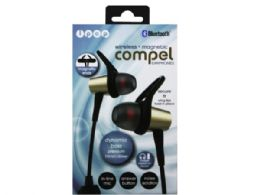 6 of Ipop Compel Gold Bluetooth Earphones With Case