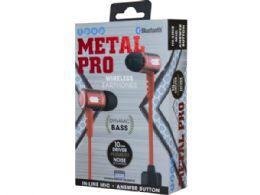 6 of Ipop Metal Pro Red Bluetooth Earphones With Case