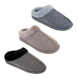 36 of Mens Fur Fleece Lined Winter Slippers