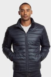 12 of Men's Puff Jacket In Navy Size Small