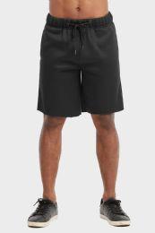 12 of Libero Mens Fleece Shorts In Black Size Small