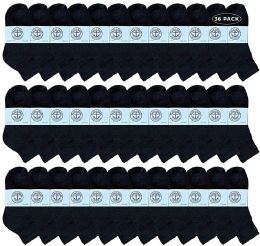 36 of Yacht & Smith Wholesale Kids Mid Ankle Socks, With Free Shipping Size 6-8 (Black)