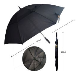 48 of 40 INCH BLACK ONLY UMBRELLA
