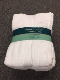 12 of Soft Durable Absorbent White Bath Towel Size 30x52