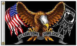 24 of 3'x5' Eagle Flag With Flag/pow Wings