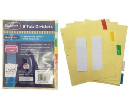 "144 of Tab Index Dividers 8pcs 8.5' X11"""
