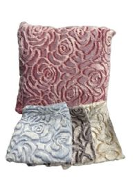 15 of Plush Pillow Assorted Colors 12x12 Inch