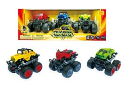 24 of Friction Monster Truck W/360 Turn Function (3 Pcs Set)