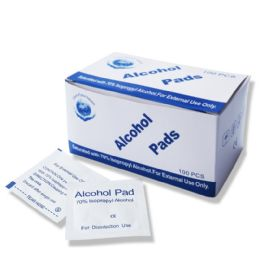 400 of 70% Isopropyl Wholesale Alcohol Pads , First Aid Cleaning Pads